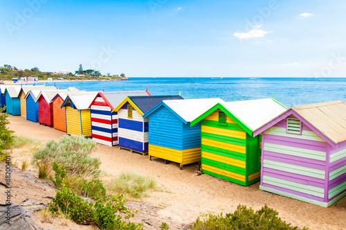 Poster Australie Bathing boxes at Brighton Beach, Australia