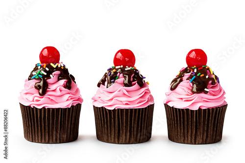 Photo  Ice cream sundae cupcakes