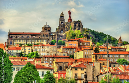 View of Le Puy-en-Velay, a town in Haute-Loire, France Poster