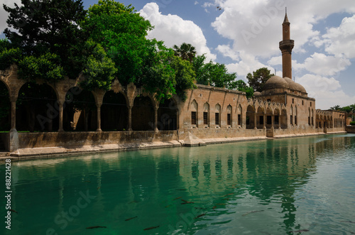 Holy Lake and Halil-ur Rahman Mosque Poster