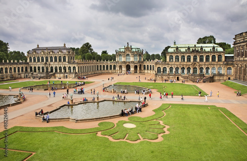 Staande foto Historisch geb. Zwinger Palace in Dresden. Germany