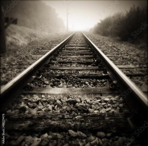 Fotoposter Spoorlijn Railway tracks