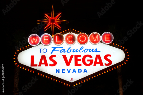 Foto op Canvas Las Vegas Welcome to Fabulous Las Vegas