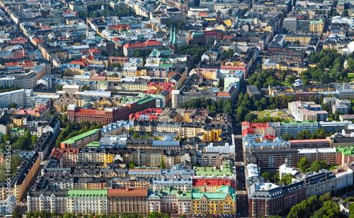 Fototapeta Airview of Helsinki Finland obraz na płótnie