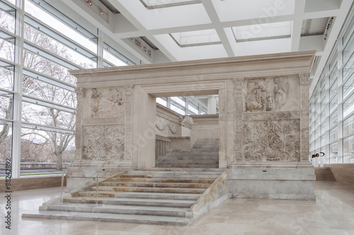 Ara Pacis Augustae (Altar of Augustan Peace) in Rome Canvas Print