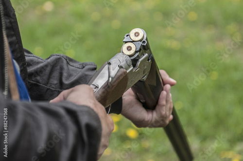 Foto op Canvas Jacht Skeet Shooting