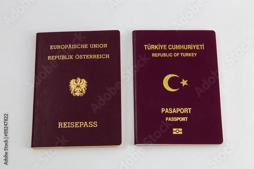 Fotografía  Pass, Doppelstaatsbürgerschaft, Österreich, Türkei, Europäische Union