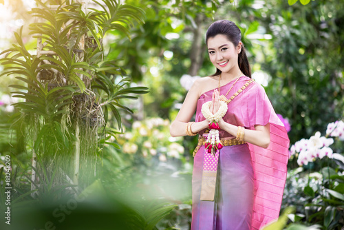 df1298796 Beautiful Thai girl in Thai traditional costume - Buy this stock ...