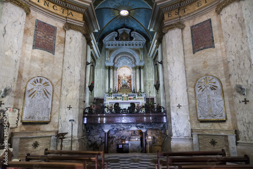 Photo  Interior of Stella Maris Church. Haifa. Israel.