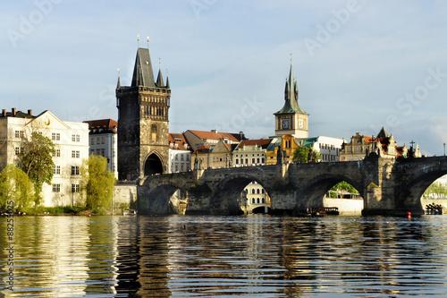 Staande foto Praag Beautiful view of Charles bridge, Prague