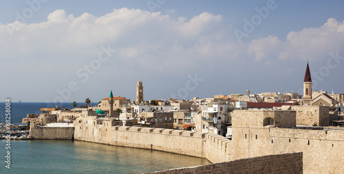 Ancient city of Akko in the morning. Israel