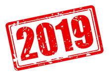 2019 Red Stamp Text