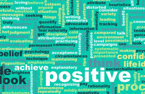 Think or Stay Positive Billede på lærred