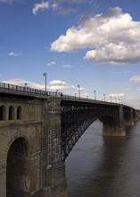 Vertical Shot Of Eads Bridge A...