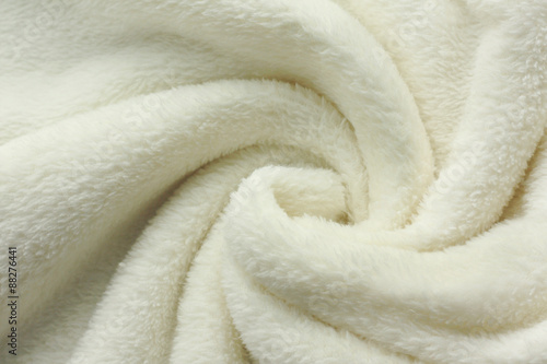 White Soft Fleece Blanket Swirl Background Poster