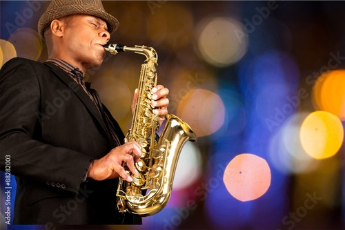 Photo  Jazz, Musical Band, Saxophone.