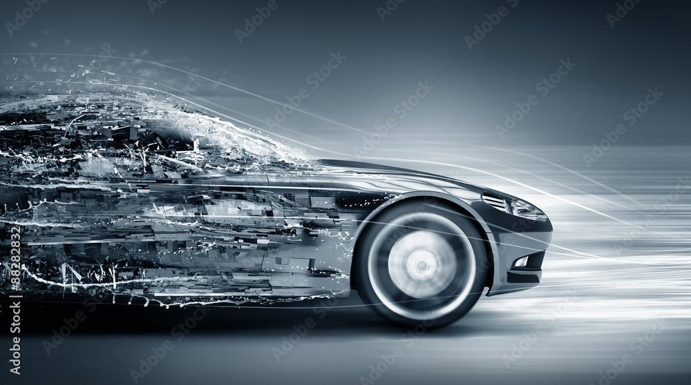 Fototapety, obrazy: speeding car concept