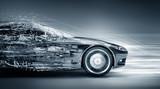 speeding car concept - 88282832