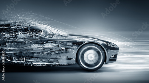 Obraz speeding car concept - fototapety do salonu