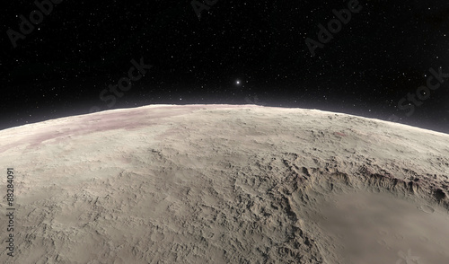 Photo The Moon. Illustration of sky, space and moon craters