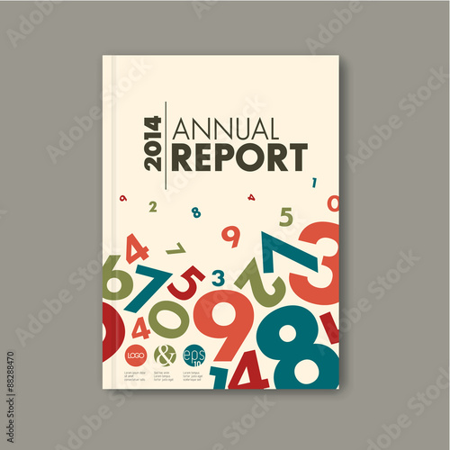 Fotobehang Restaurant Modern Vector abstract annual report design template