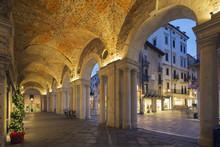 An Arcade In Piazza Signori, Vicenza, Veneto