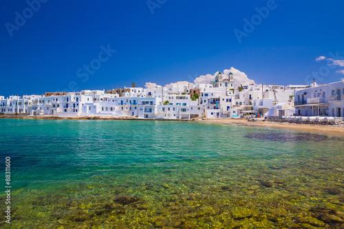 Naoussa town, Paros island, Cyclades, Aegean, Greece Wallpaper Mural