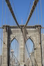 Brooklyn Bridge Detail, Brooklyn, New York City, New York
