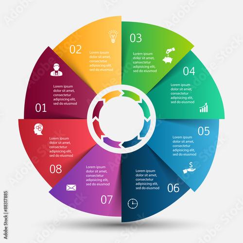 Vector circle infographic. Wall mural