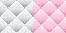 Set Of 2 Satin Quilted Seamles...