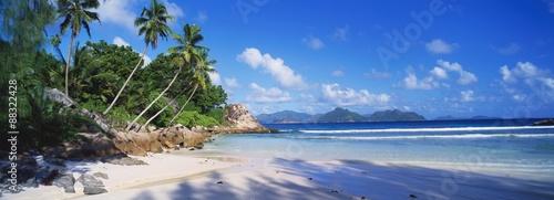 Autocollant pour porte Plage Anse Severe, Praslin, Seychelles