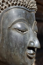 Detail Of Statue Of The Buddha, Wat Phra Keo, Built By King Setthathirat, Vientiane, Laos