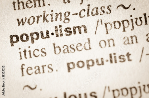 Dictionary definition of word populism Canvas Print