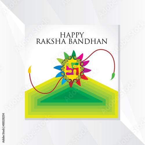 Foto  indian festival raksha bandhan concept vector