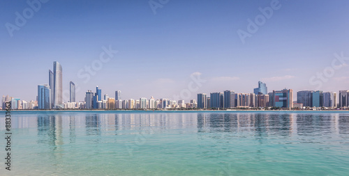 Printed kitchen splashbacks Abu Dhabi Abu Dhabi Skyline