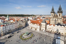 View Of The Old Town Square With The Iconic Church Of Our Lady Before Tyn, Prague, Czech Republic