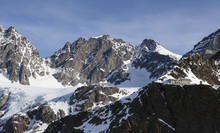 The Marinelli Hut Hidden At The Foot Of The Mountain Range In Valmalenco, Valtellina, Lombardy