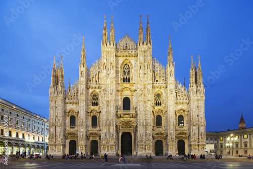 Piazza del Duomo and the Duomo, Milan, Lombardy, Italy