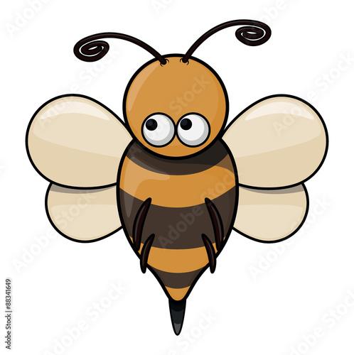 Foto auf AluDibond Ziehen Bee cartoon illustration