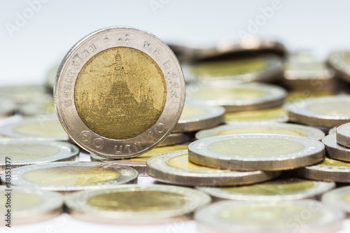 Fotografia, Obraz Coins of Thailand
