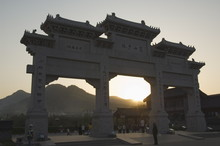 Sunset At The Entrance Gate To...