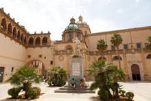 Piazza Della Repubblica And Santissimo Salvatore Cathedral, Mazara Del Vallo, Sicily