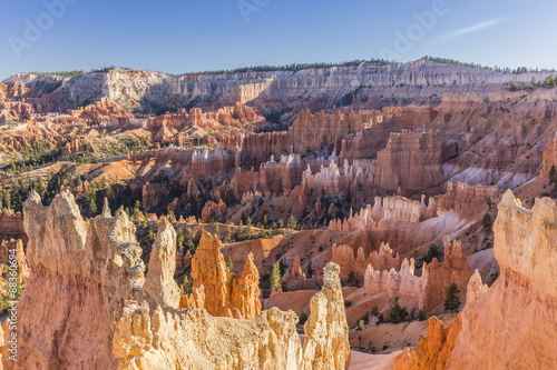 Hoodoo rock formations in Bryce Canyon Amphitheater, Bryce Canyon National Park, Utah, United States of America, North America