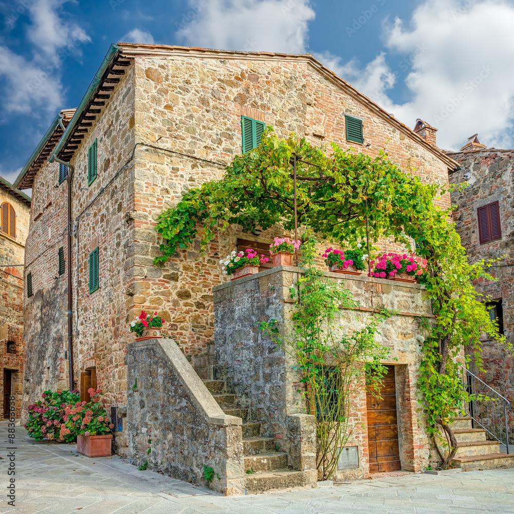 Fototapeta Old town Monticchiello Tuscany Italy
