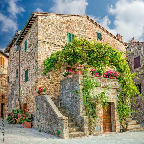 Fototapety, obrazy: Old town Monticchiello Tuscany Italy