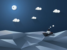 Low Poly Abstract Background. ...