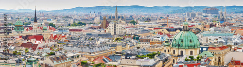 Ingelijste posters Wenen Aerial view of city center of Vienna