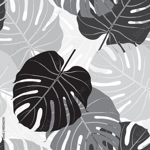 Materiał do szycia Wzór z palm liści. Monochromatyczne tła.