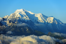 View To Mont Blanc In France, Martigny, Valais, Swiss Alps