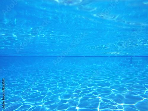 Plakat Niebieski basen podwodny